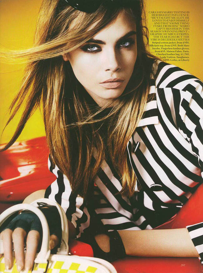 06 Cara Delevingne Vogue-UK march by Mario Testino