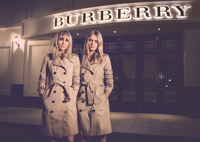 Burberry brings London to Shanghai - British models Suki Waterhouse and Cara Delevingne at the event
