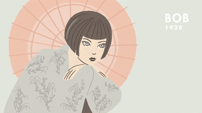 An Animated History Of 20th Century Hairstyles 2